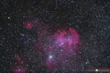 IC 2944 Running Chicken Nebula